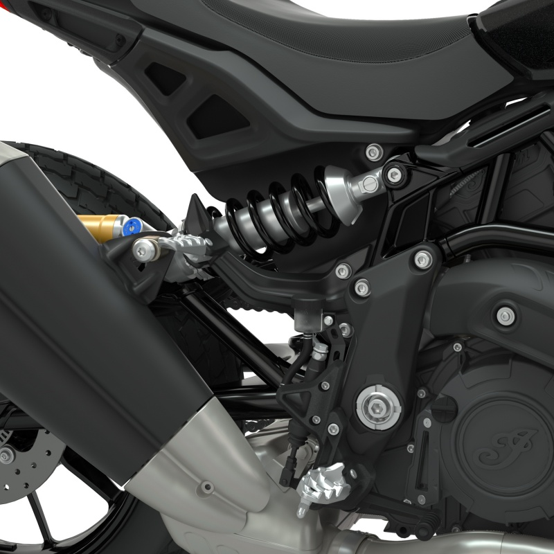 Indian FTR1200 Passenger Foot Peg Mount For High Exhaust